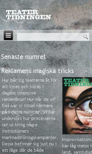 Mobile preview of teatertidningen.se