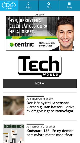 Mobile preview of techworld.idg.se