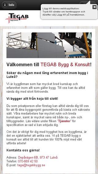 Mobile preview of tegabbygg.se