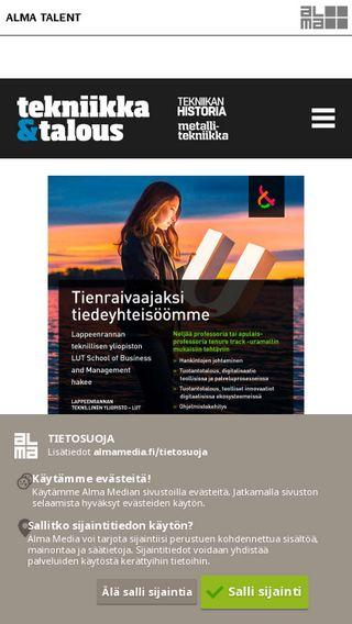 Mobile preview of tekniikkatalous.fi
