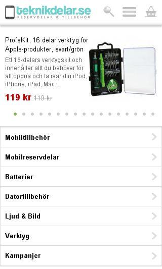 Mobile preview of teknikdelar.se