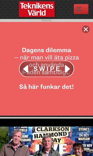 Mobile preview of teknikensvarld.se