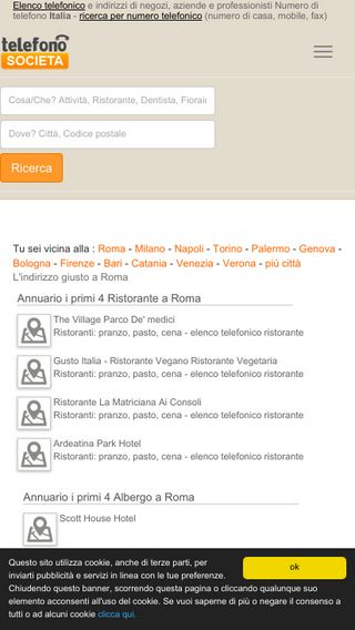 Mobile preview of telefono-societa.it