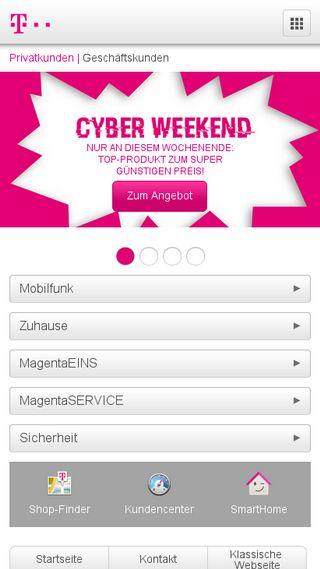 Mobile preview of telekom.de