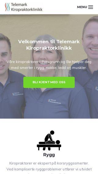 Mobile preview of telemarkkiropraktor.no