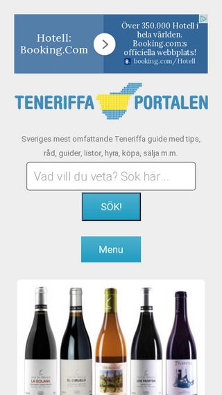 Mobile preview of teneriffaportalen.se