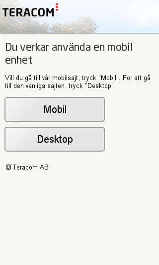Mobile preview of teracom.se