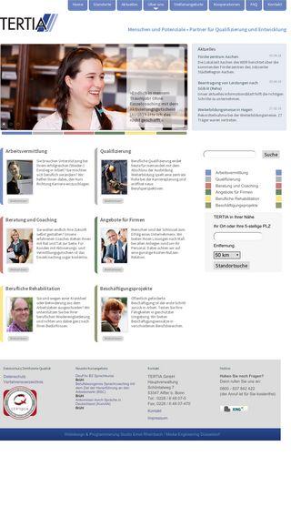 Mobile preview of tertia.de