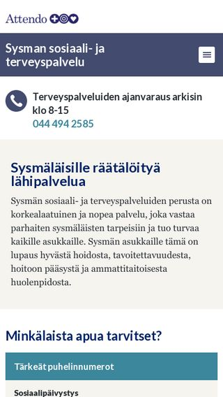 Mobile preview of terveys.sysma.fi