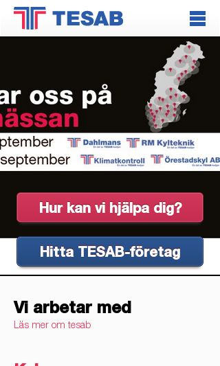 Mobile preview of tesab.se