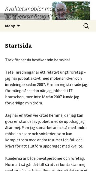 Mobile preview of teteinredningar.se
