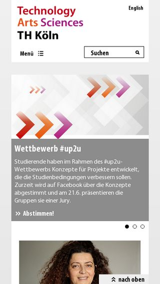 Mobile preview of th-koeln.de