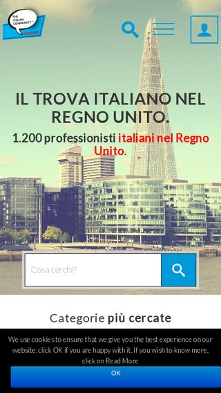 Mobile preview of theitaliancommunity.co.uk
