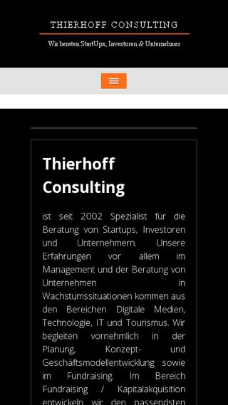 Mobile preview of thierhoff-consulting.de