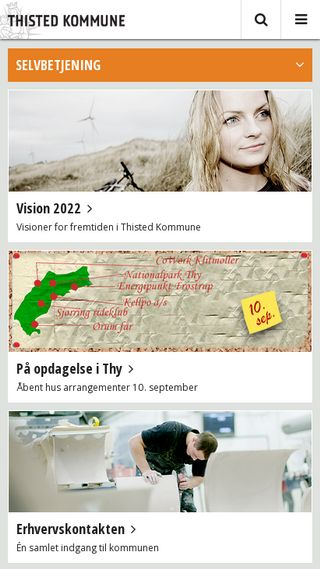 Mobile preview of thisted.dk