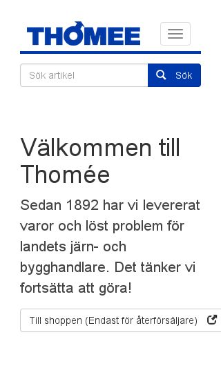 Mobile preview of thomee.se
