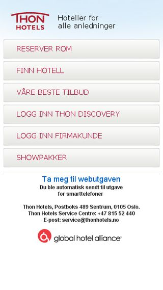Mobile preview of thonhotels.no