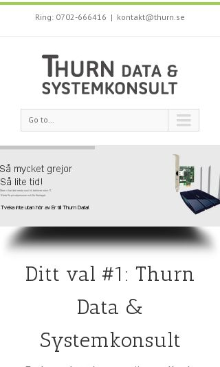Mobile preview of thurn.se