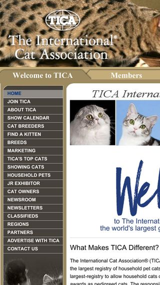Mobile preview of tica.org