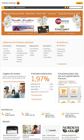 Mobile preview of tidaholms-sparbank.se