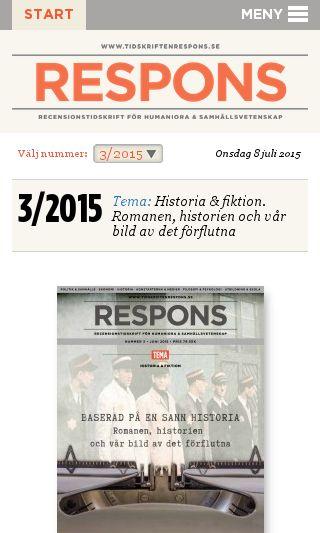 Mobile preview of tidskriftenrespons.se