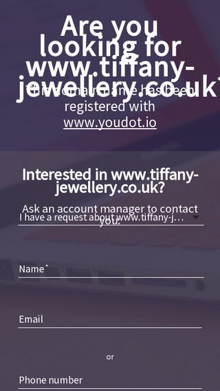Mobile preview of tiffany-jewellery.co.uk