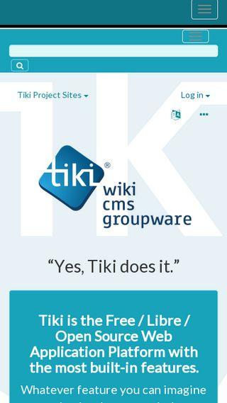 Mobile preview of tiki.org