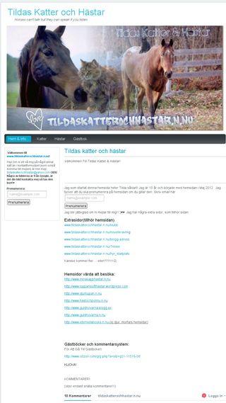 Mobile preview of tildaskatterochhastar.n.nu