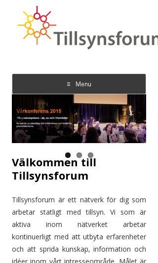 Mobile preview of tillsynsforum.se