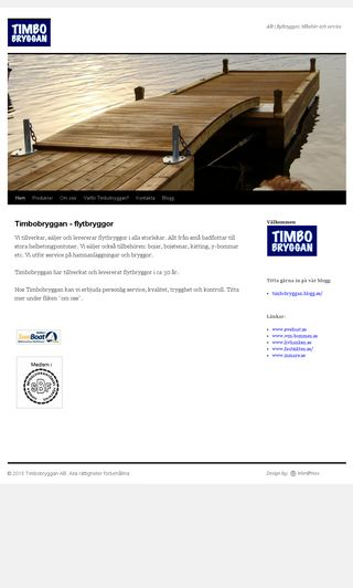 Mobile preview of timbobryggan.se