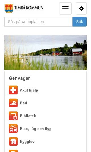 Mobile preview of timra.se