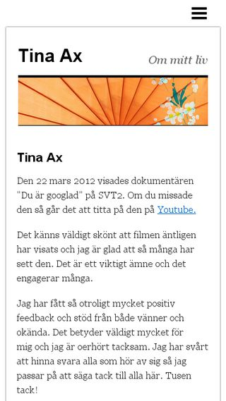 Mobile preview of tinaax.n.nu