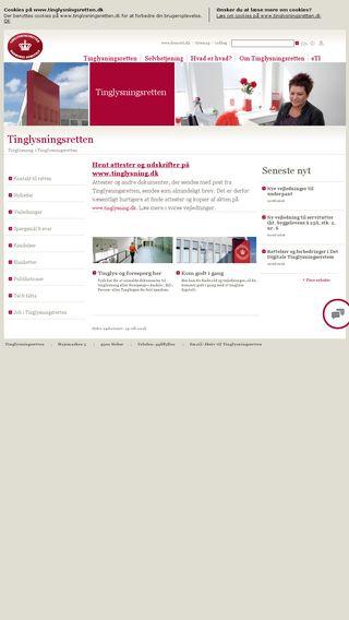 Mobile preview of tinglysningsretten.dk
