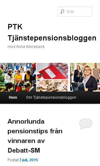 Mobile preview of tjanstepensionsbloggen.se