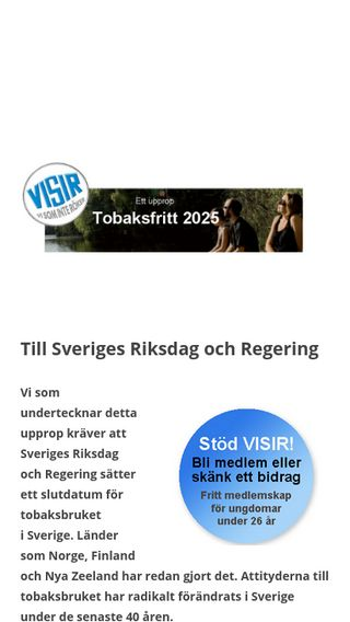 Mobile preview of tobaksfritt2025.se