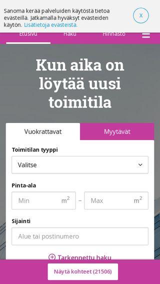 Mobile preview of toimitilat.oikotie.fi