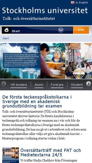 Mobile preview of tolk.su.se