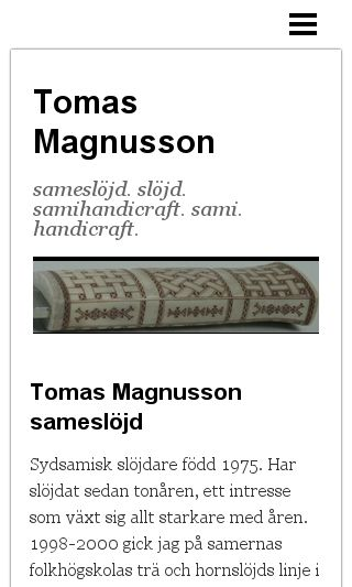 Mobile preview of tomasmagnusson.se