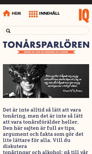 Mobile preview of tonarsparloren.se