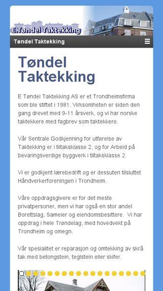 Mobile preview of tondeltak.no