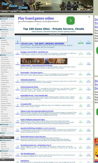 Mobile preview of topgamesites.net