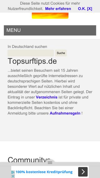 Mobile preview of topsurftips.de