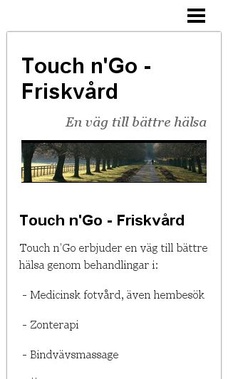 Mobile preview of touchngofriskvard.nu