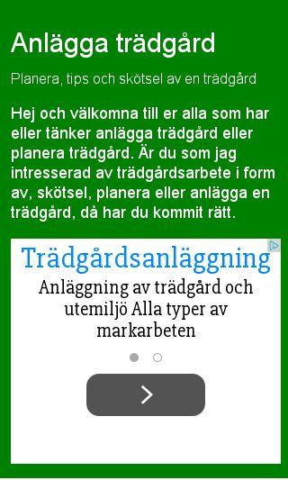 Mobile preview of tradgardar.eu