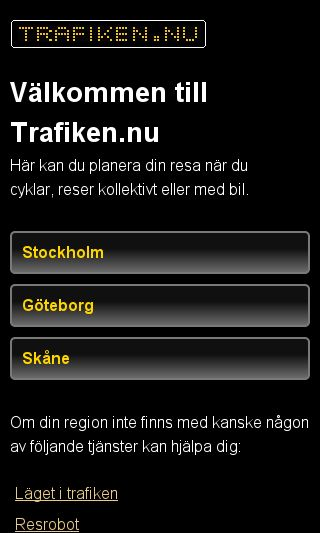 Mobile preview of trafiken.nu