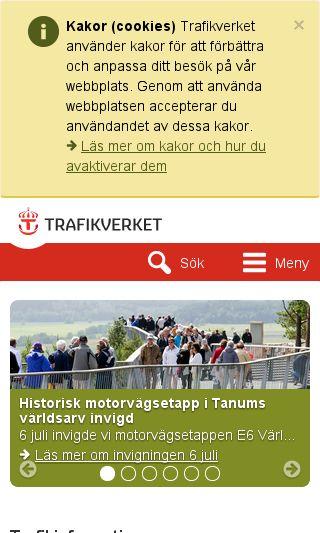 Mobile preview of app.trafikverket.se
