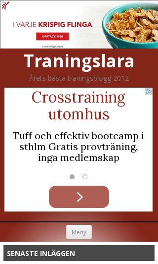 Mobile preview of traningslara.se
