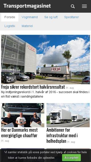 Mobile preview of transportmagasinet.dk