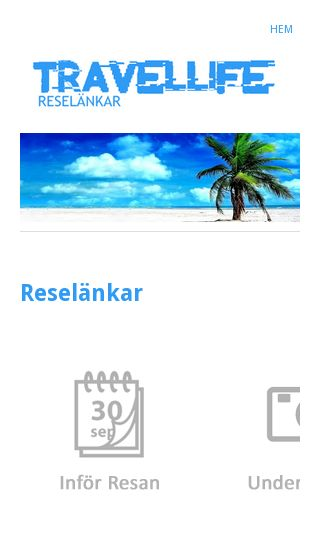 Mobile preview of travellife.se