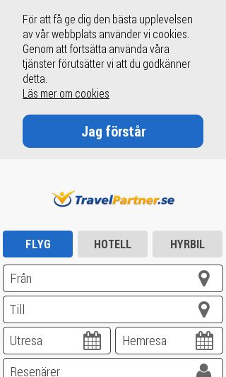 Mobile preview of travelpartner.se